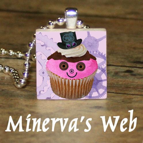 STEAMPUNK-CUPCAKE-Scrabble-Tile-Charm-Necklace-Pendant-by-Minervas-Web