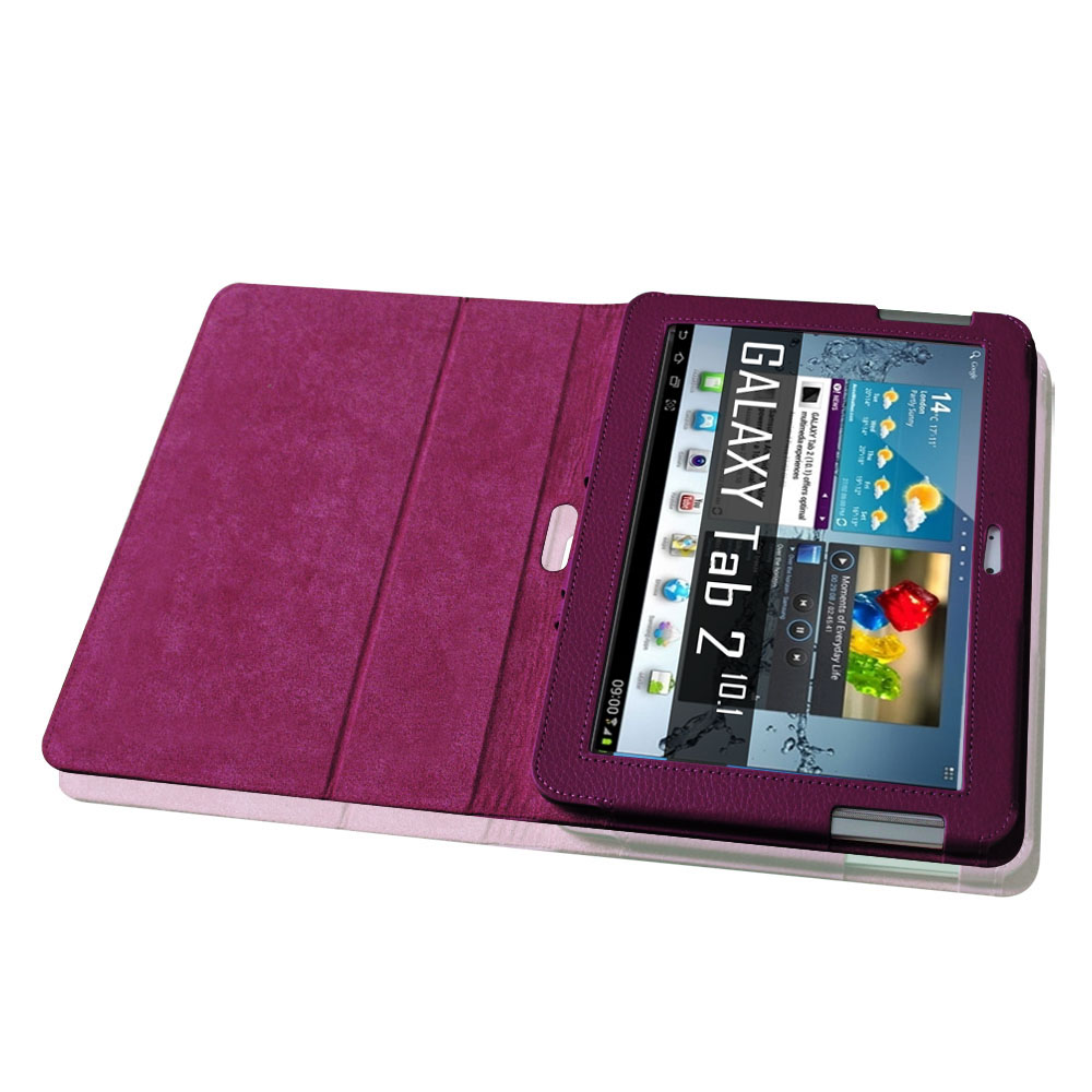 samsung galaxy tab 2 10 1 inch tablet folio leather case. Black Bedroom Furniture Sets. Home Design Ideas