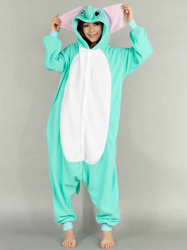 Kigurumi pajamas animal costumes cosplay adult onesie pyjamas green elephant ebay - Pyjama elephant ...