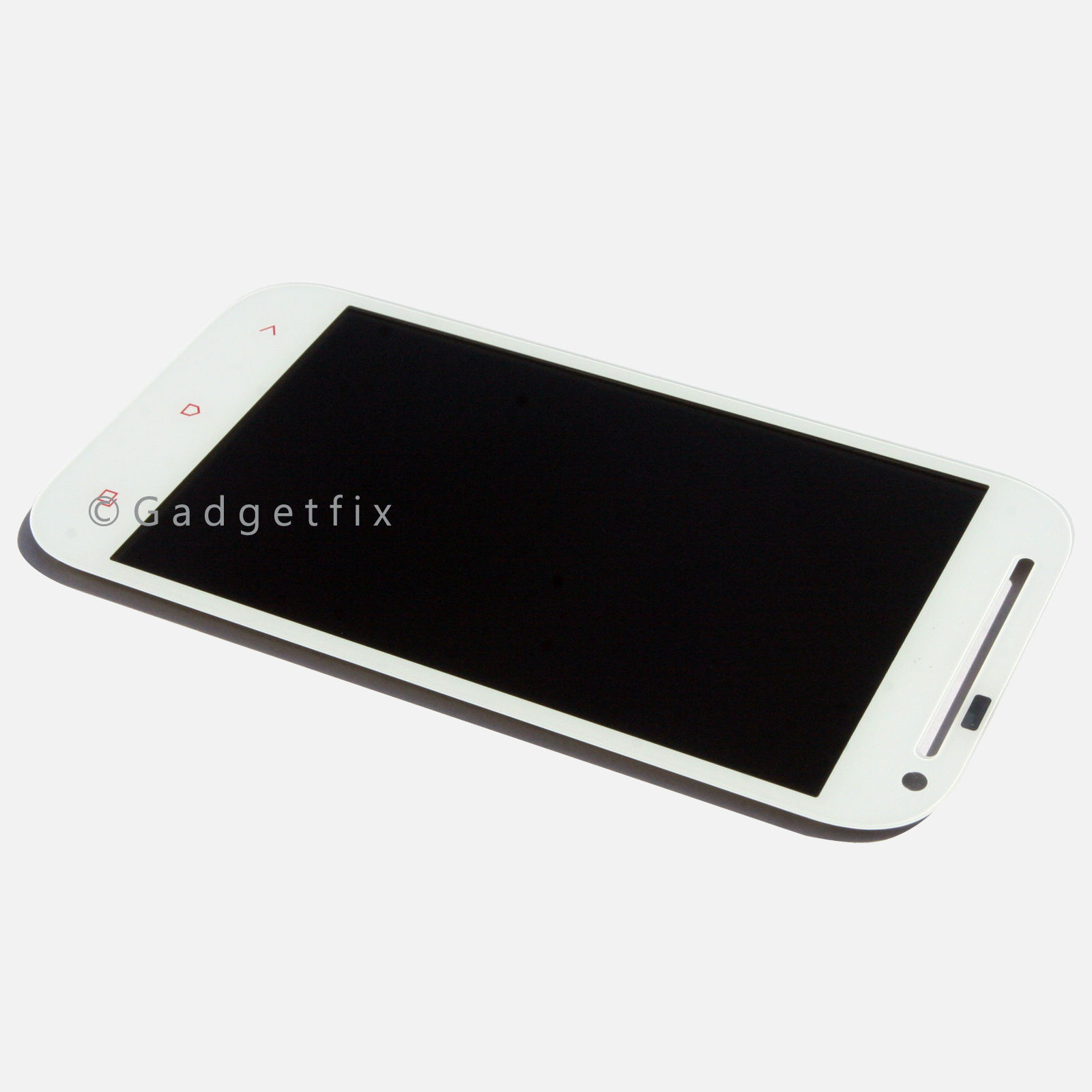 White US HTC One SV LTE T528T LCD Touch Digitizer Screen Assembly w Camera Hole