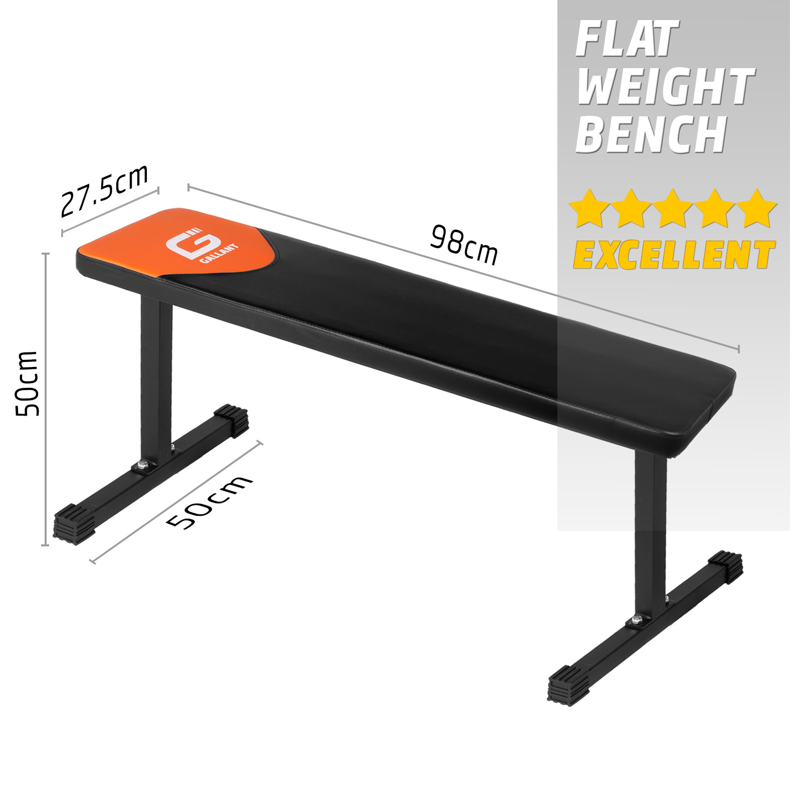 Weight Bench Flat Barbell Chest Biceps Press Gym Fitness Weight Lifting Workout Ebay