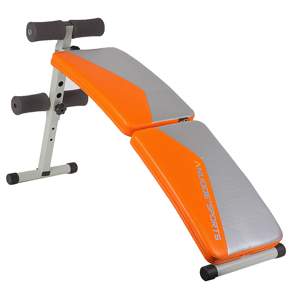 Ab Sit Up Bench Height Adjustable Folding Abdominal Board Exercise Gym Crunch Ebay