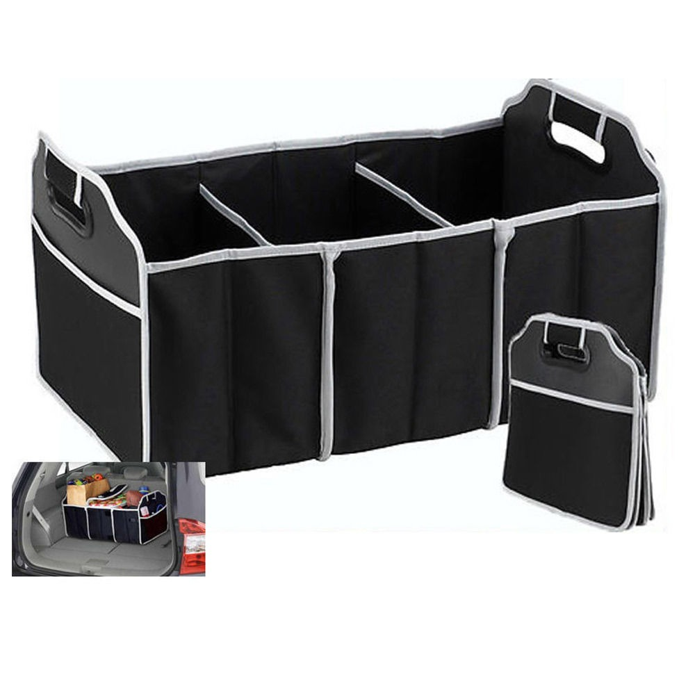 Portable Collapsible Folding Flat Trunk Auto Organizer For Car Suv