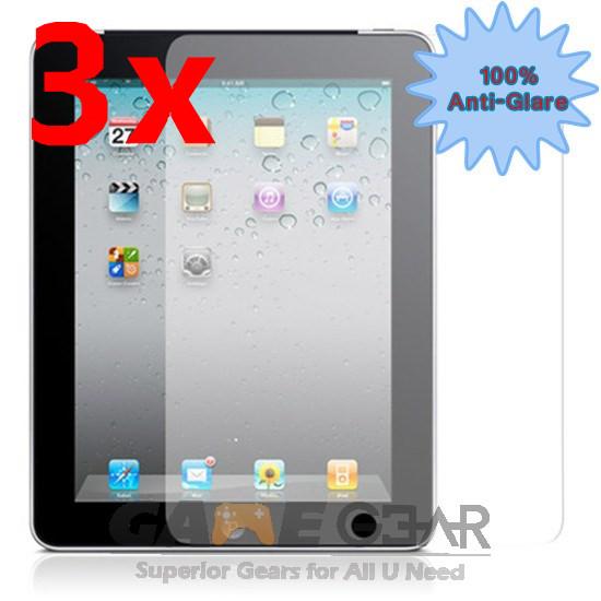 3X Anti Glare Matte Screen Protector Cover Guard Film for Apple iPad 4 4th 3 2