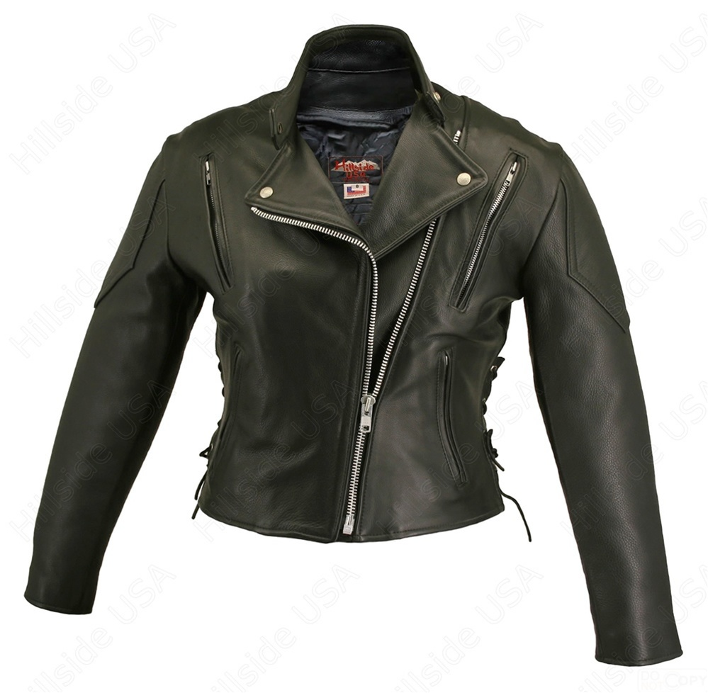 Tall leather jacket women