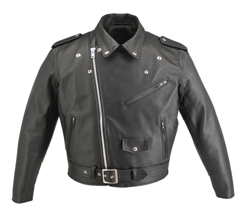 LEATHER JACKET Motorcycle Men s Branded Garments Inc Made in USA w