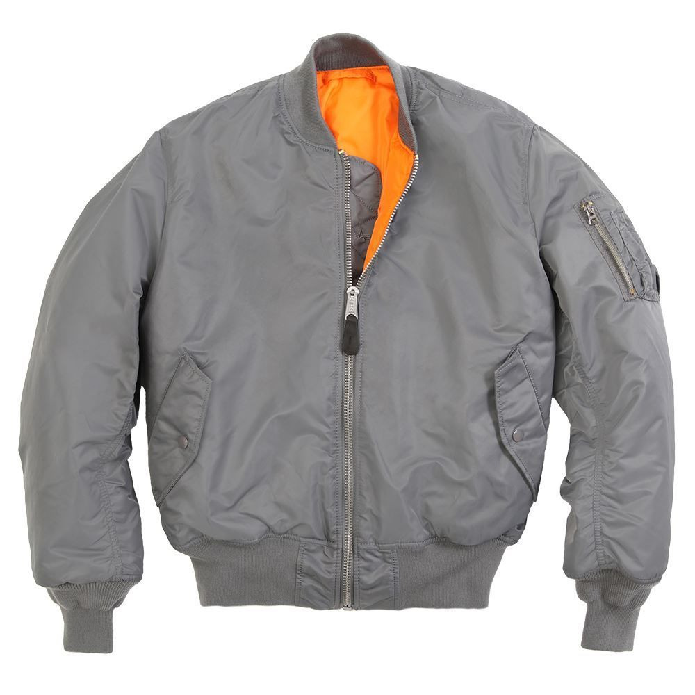 ALPHA INDUSTRIES MA-1 FLIGHT JACKET GUN METAL GRAY STRATOS NAVY ...