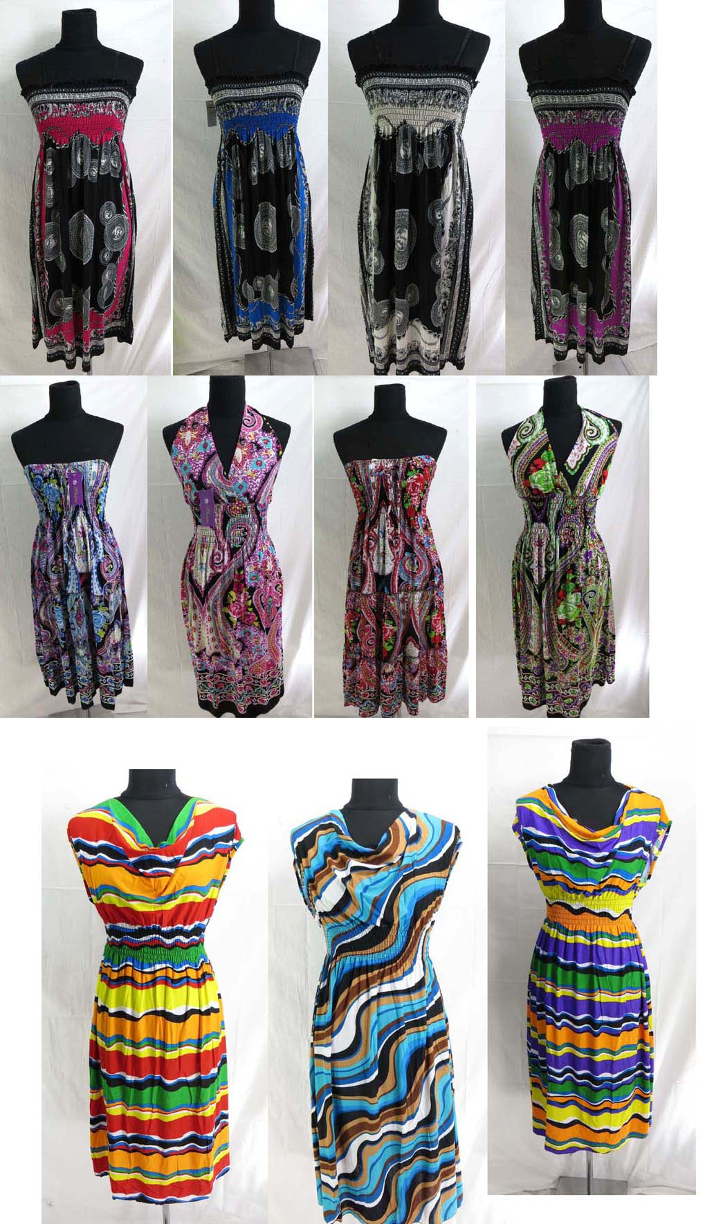 lot of 20 women dress wholesale bulk sundress bohemian hippie boho ...
