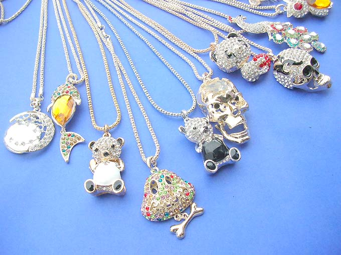 20pcs wholesale sweater necklace cz crystal bling jewelry for Bulk jewelry chain canada