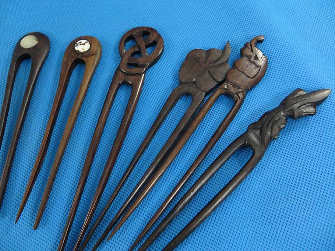 Pcs wholesale wooden hair pin handmade bali wood