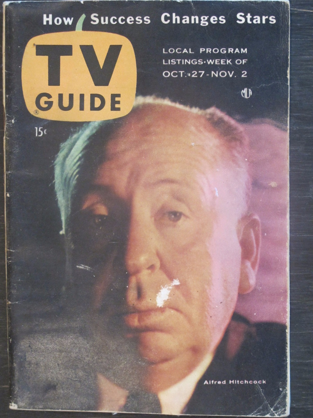 TV Guide Magazine October 27, 1956 Alfred Hitchcock