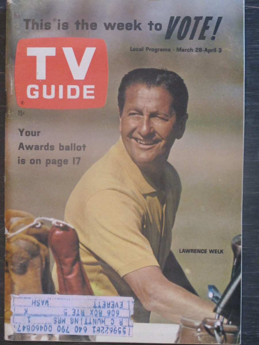 TV Guide Magazine March 25, 1964 Lawrence Welk