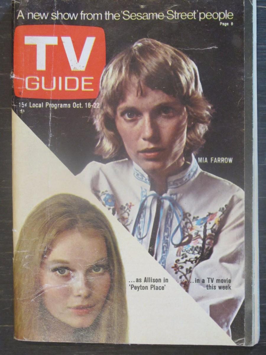 TV Guide Magazine October 16, 1971 Mia Farrow