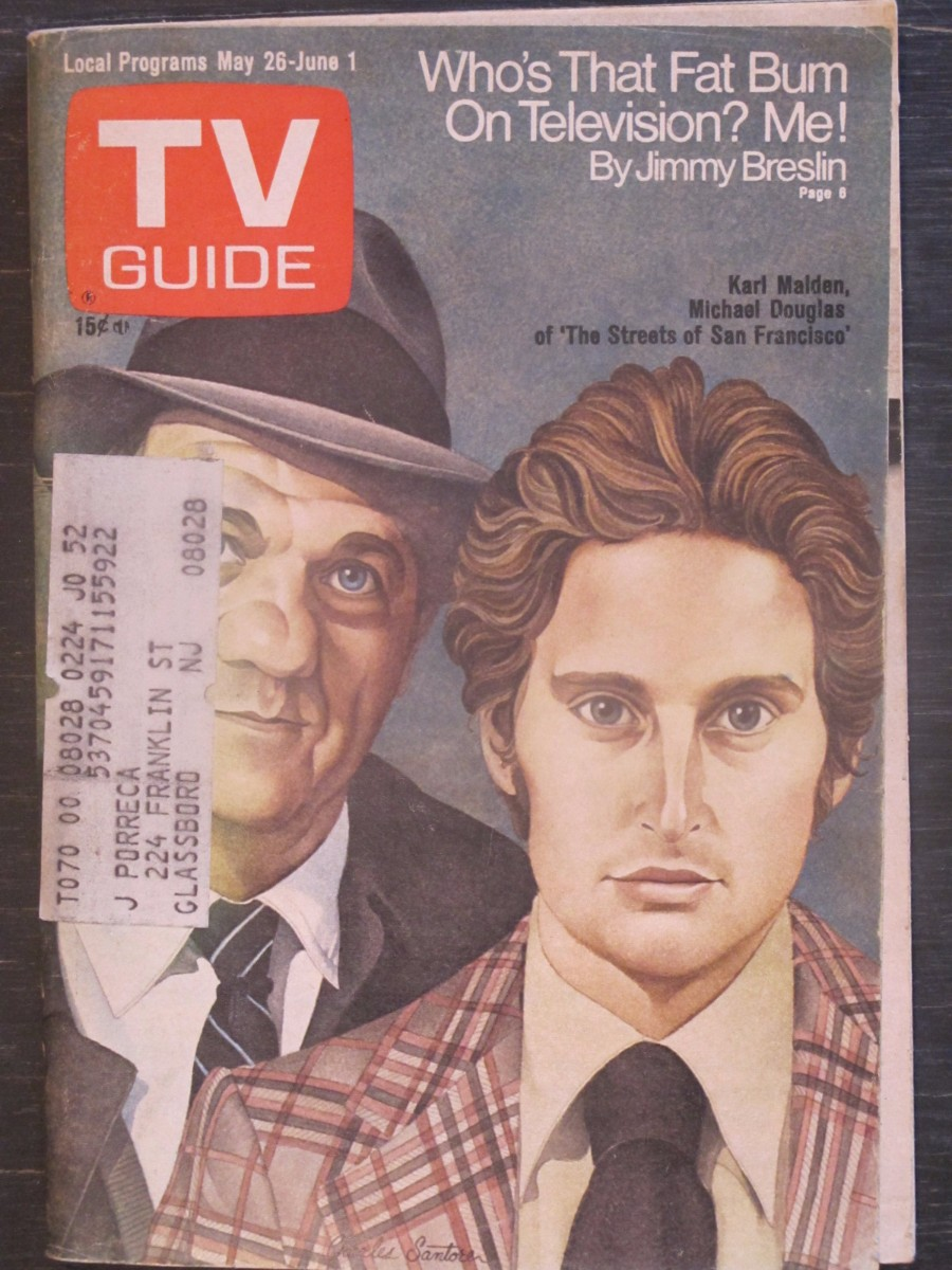 TV Guide Magazine May 26, 1973 Karl Malden & Michael Douglas Streets of San Francisco