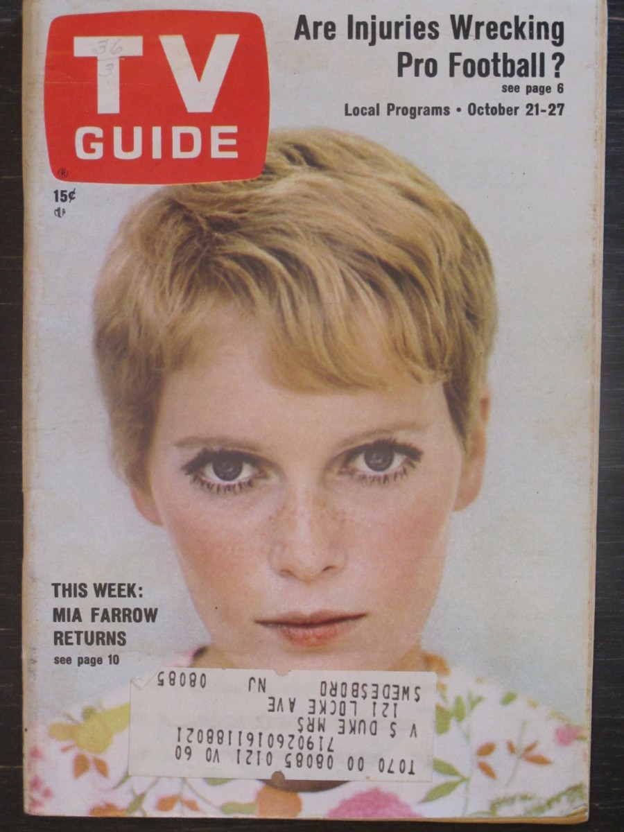 TV Guide Magazine October 21, 1967 Mia Farrow