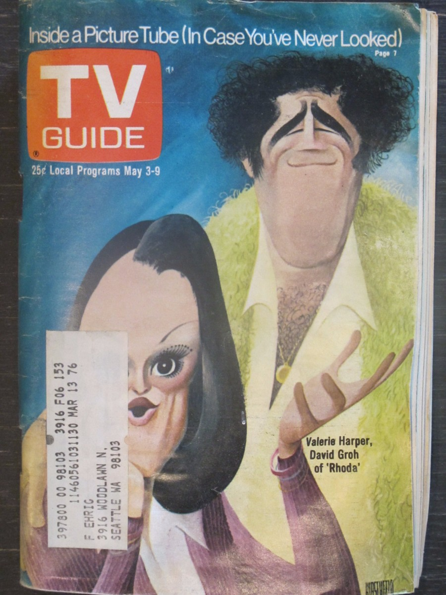TV Guide Magazine May 3, 1975 Valerie Harper & David Groh of Rhoda