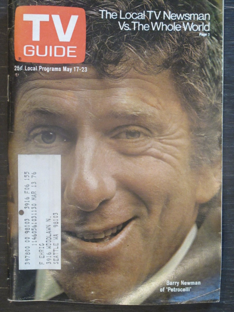 TV Guide Magazine May 17, 1975 Barry Newman of Petrocelli