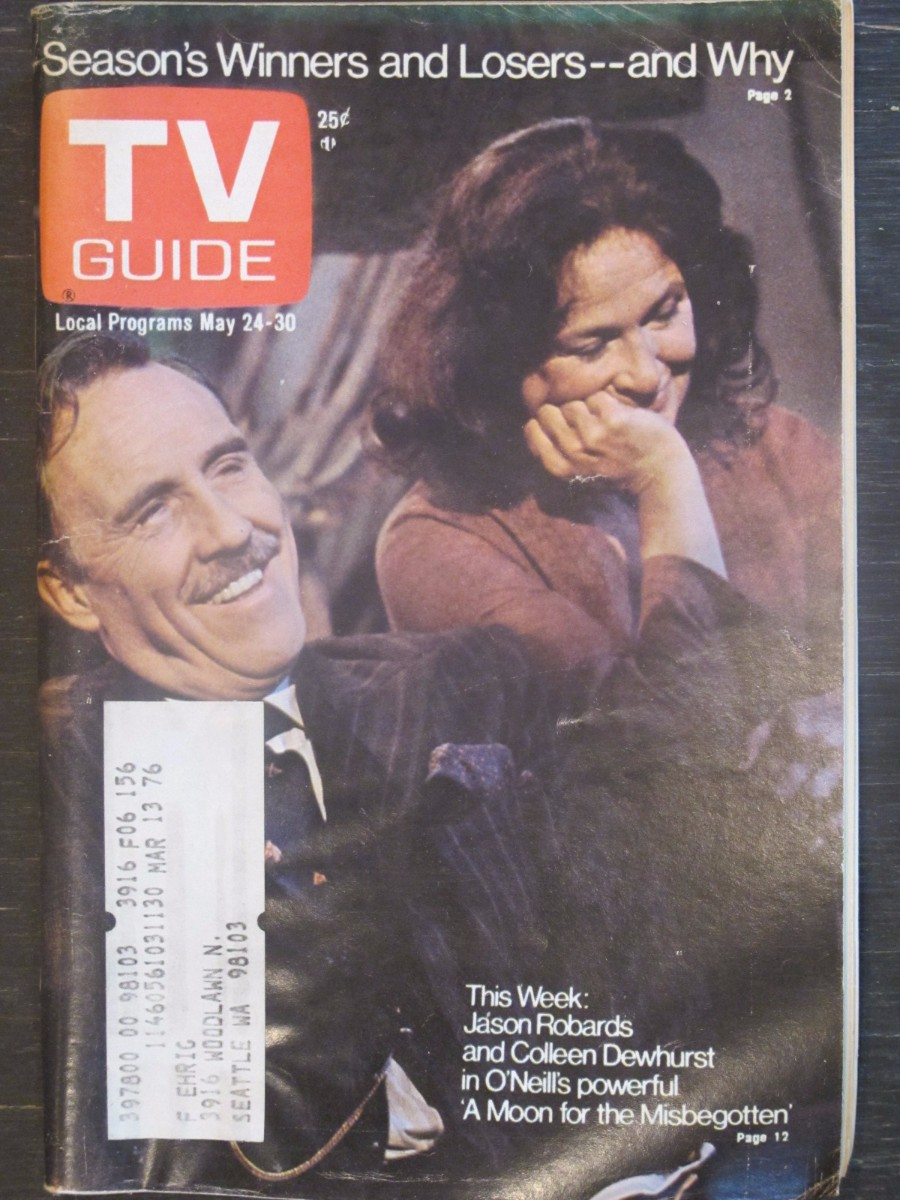TV Guide Magazine May 24, 1975 Jason Robard & Colleen Dewhurst A Moon For the Mississippi