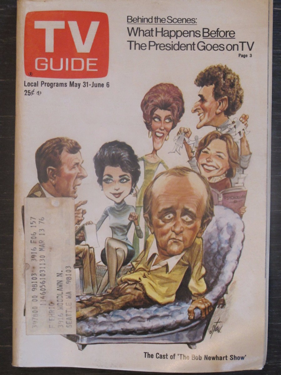 TV Guide Magazine May 31, 1975 Cast of Bob Newhart Show