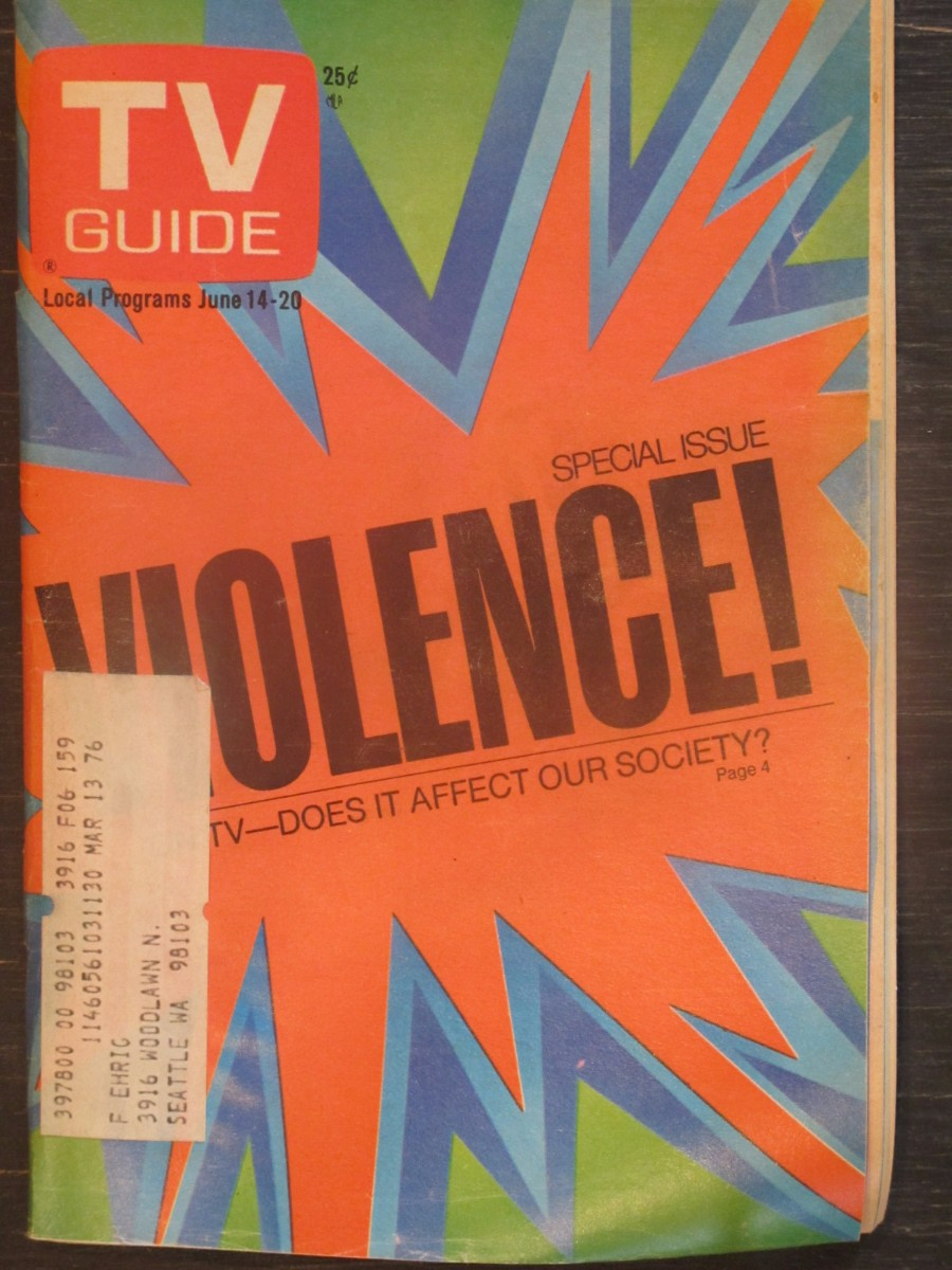 TV Guide Magazine June 14, 1975 Violence on TV