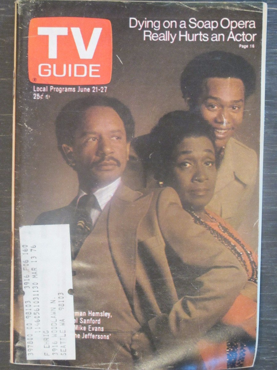 TV Guide Magazine June 21, 1975 Sherman Hemsley The Jeffersons
