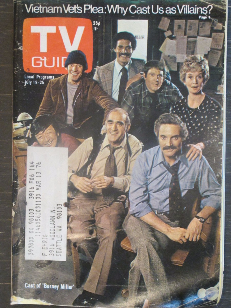 TV Guide Magazine July 19, 1975 Cast of Barney Miller