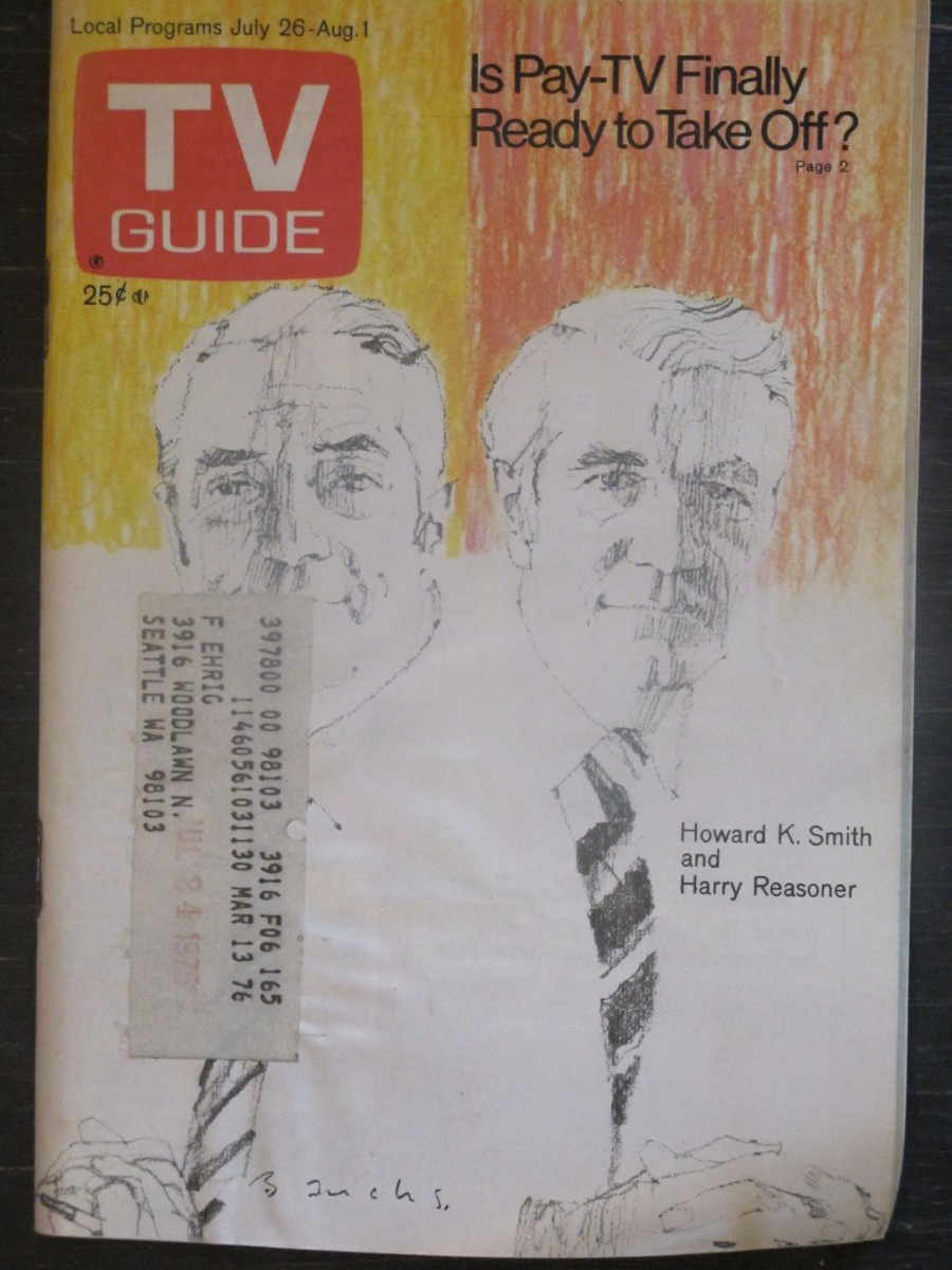 TV Guide Magazine July 26, 1975 Howard K. Smith & Harry Reasoner