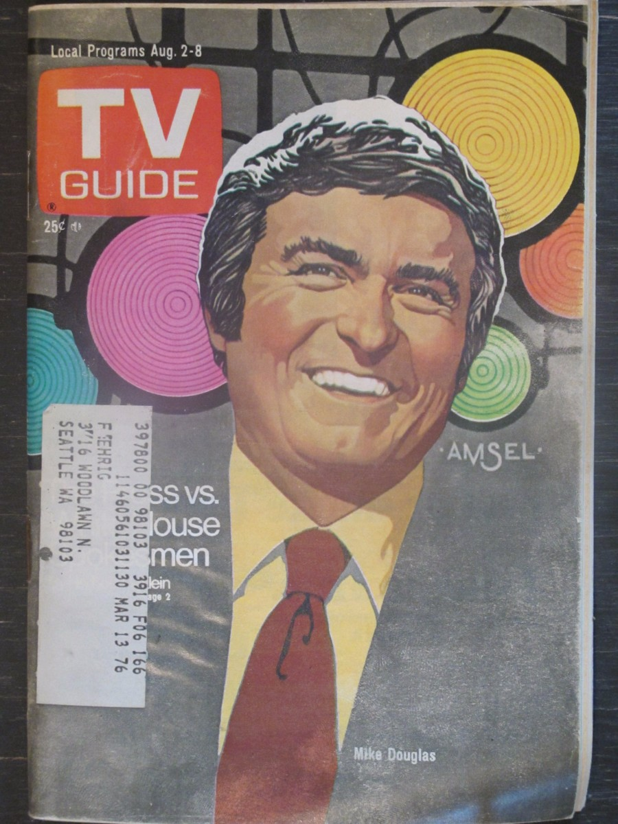 TV Guide Magazine August 2, 1975 Mike Douglas