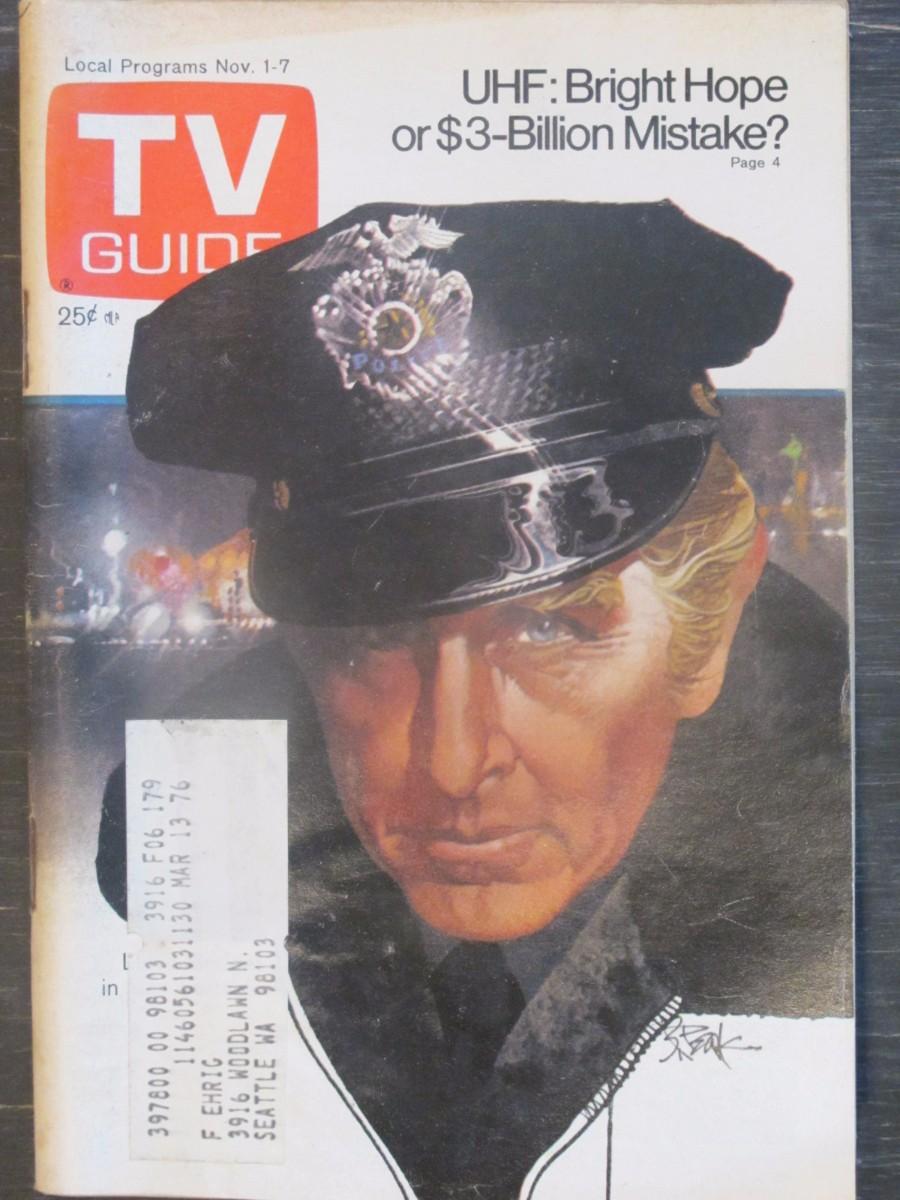 TV Guide Magazine November 1, 1975 Lloyd Bridges of Forrester