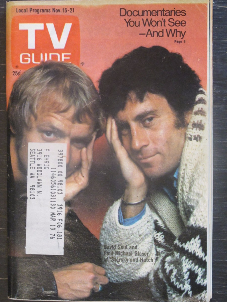 TV Guide Magazine November 15, 1975 David Soul & Michael Glaser Starsky & Hutch