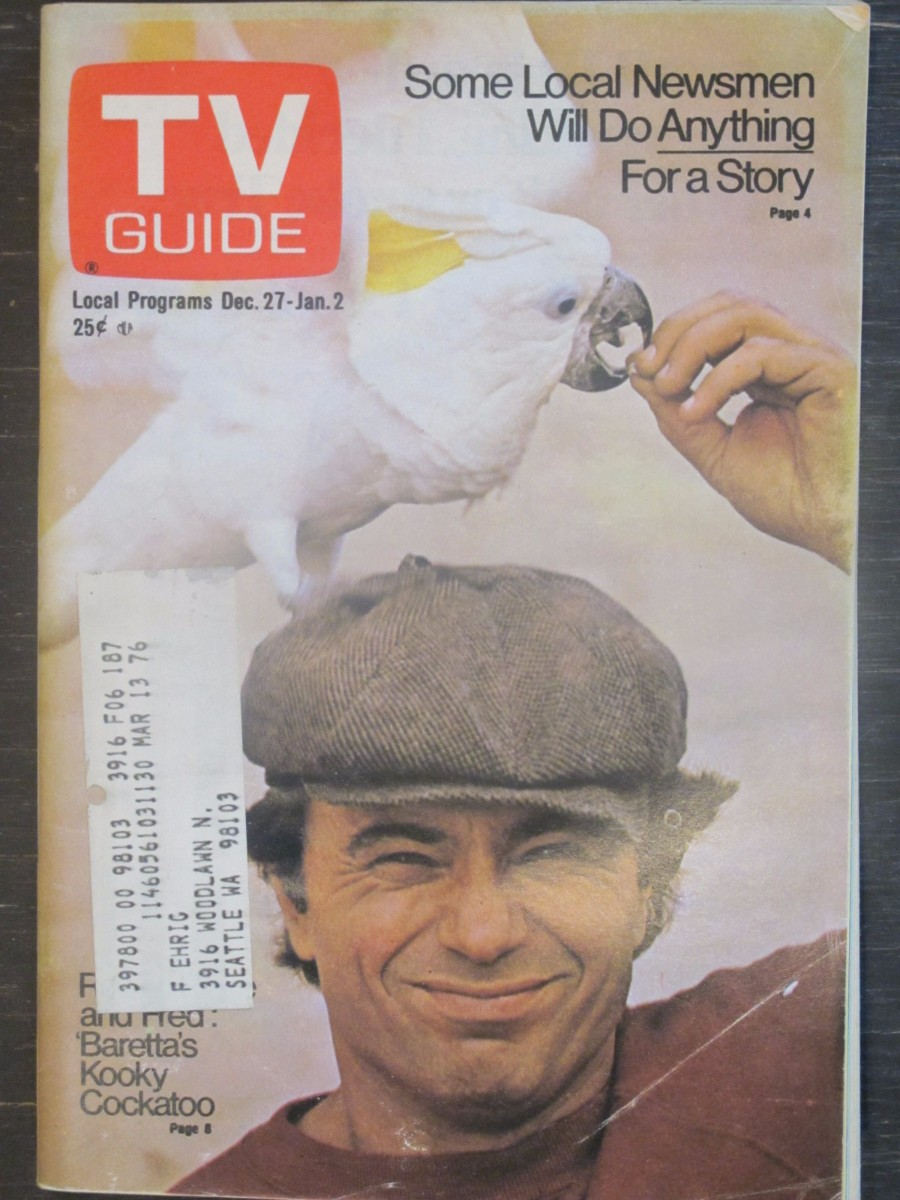 TV Guide Magazine December 27, 1975 Robert Blake of Baretta