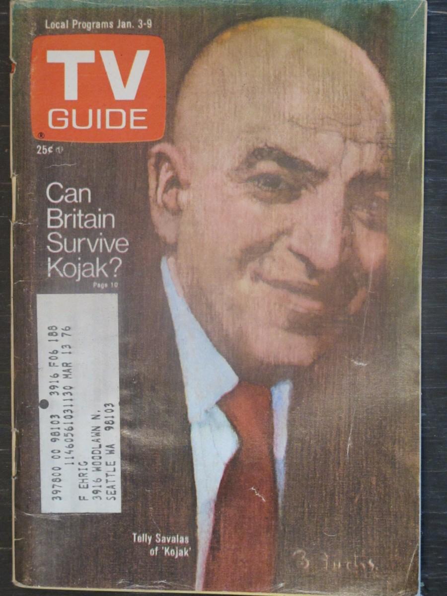TV Guide Magazine January 3, 1976 Telly Savalas of Kojak