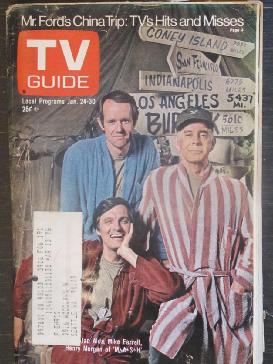 TV Guide Magazine January 24, 1976 M*A*S*H Alan Alda