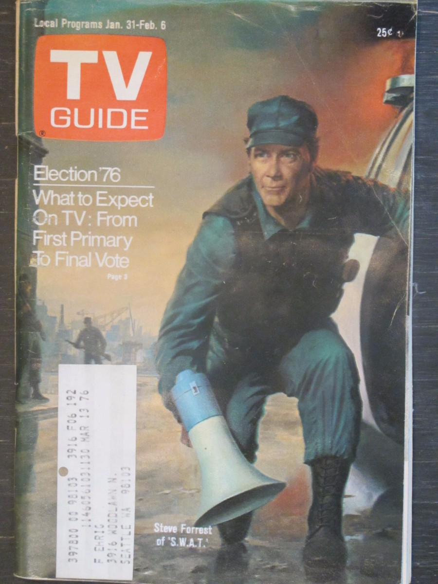 TV Guide Magazine January 31, 1976 S.W.A.T. Steve Forrest