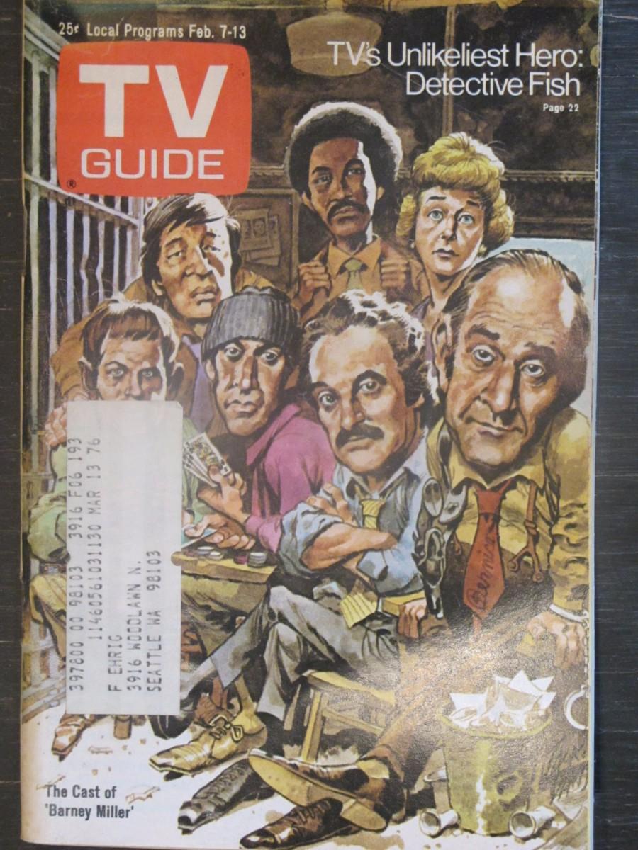 TV Guide Magazine February 7, 1976 Cast of Barney Miller
