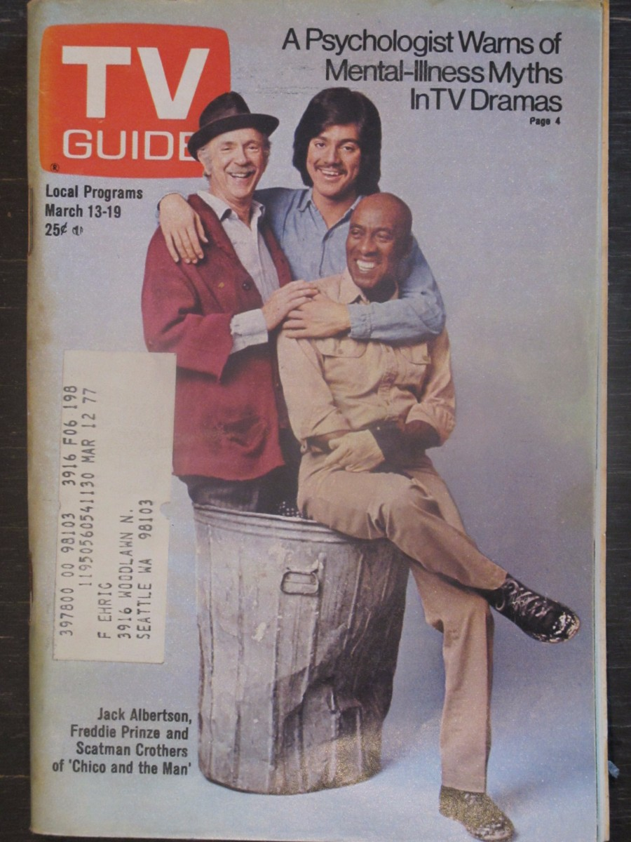 TV Guide Magazine March 13, 1976 Jack Albertson, Freddie Prinze Chico & the Man
