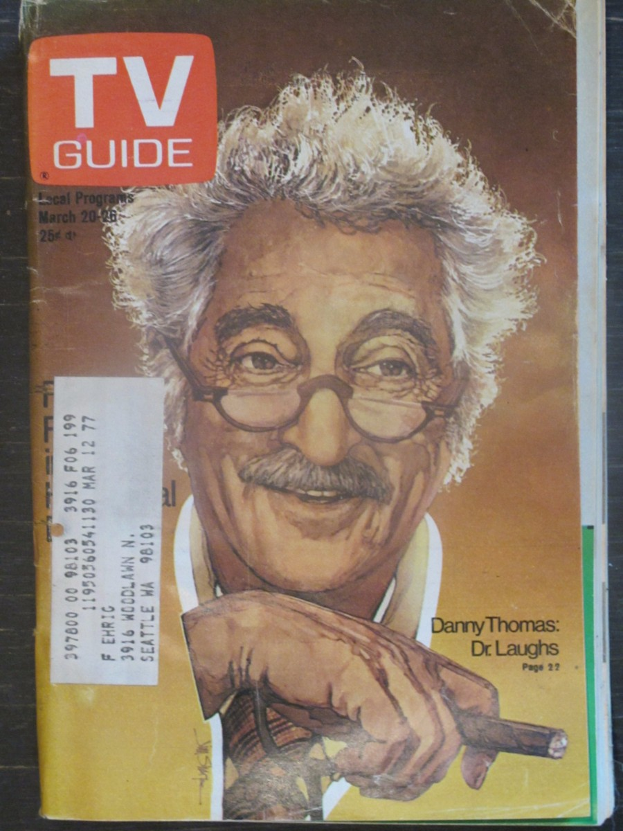 TV Guide Magazine March 20, 1976 Danny Thomas as Dr. Laughs