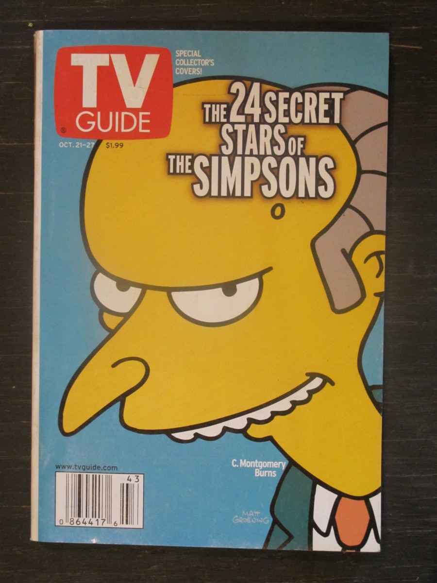TV Guide Magazine October 21, 2000 Secret Stars of Simpsons C. Montgomery Burns
