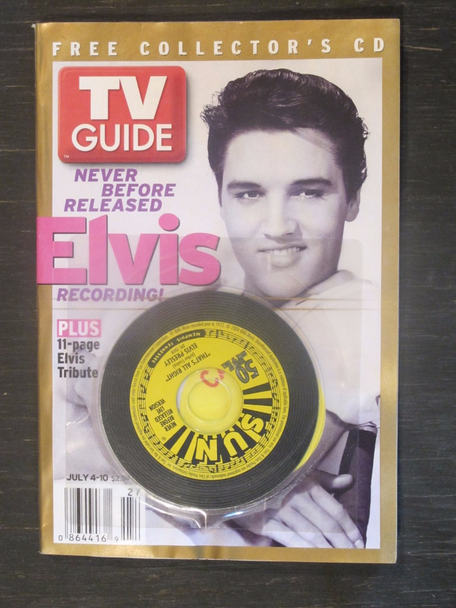 TV Guide Magazine July 4, 2004 Elvis Presley w / CD