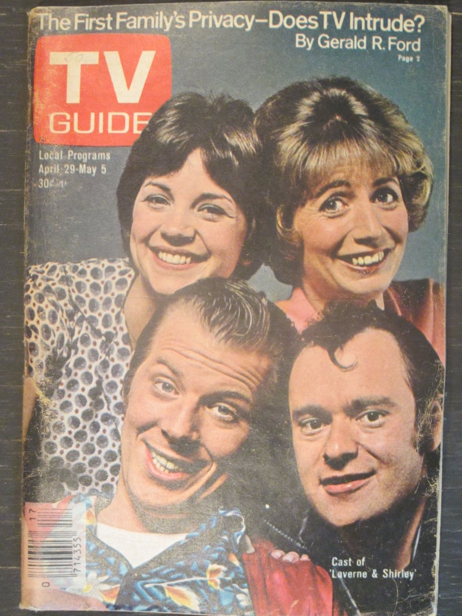 TV Guide Magazine May 29, 1978 Cast of Laverne & Shirley