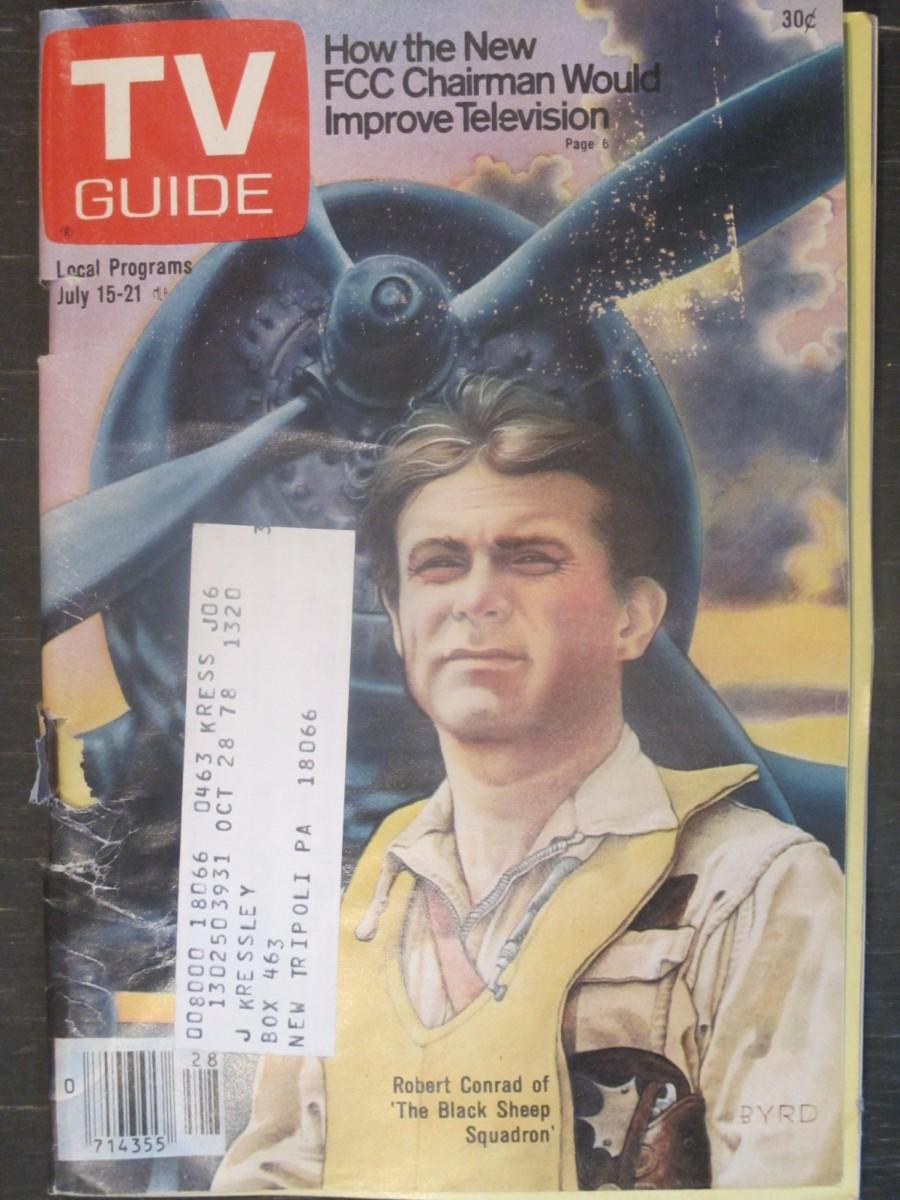 TV Guide Magazine July 15, 1978 Robert Conrad of Black Sheep Squadron