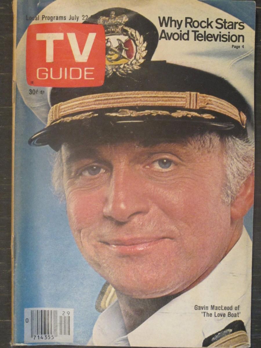 TV Guide Magazine July 22, 1978 Gavin MacLeod of The Love Boat