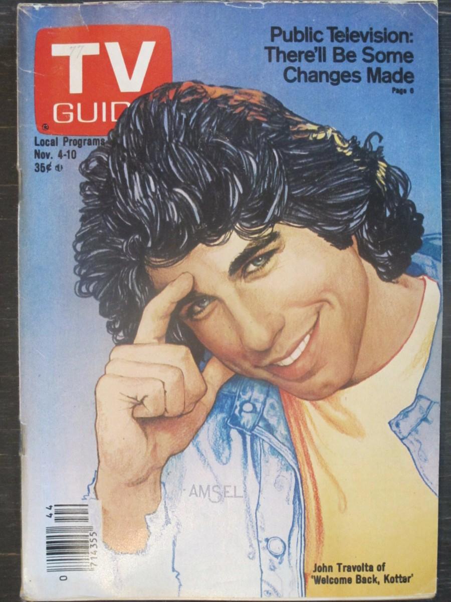 TV Guide Magazine November 4, 1978 John Travolta of Welcome Back Kotter