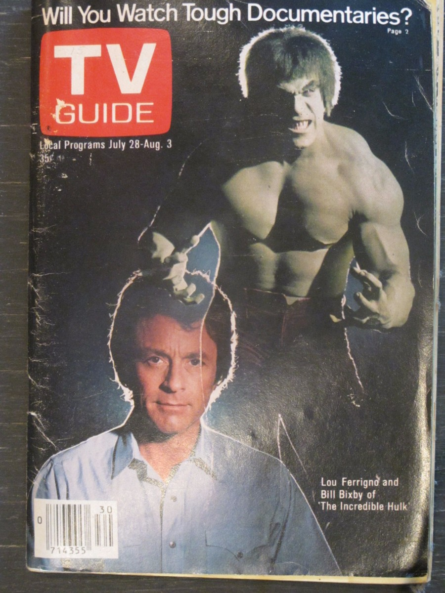 TV Guide Magazine July 28, 1979 Lou Ferrigno & Bill Bixby Incredible Hulk