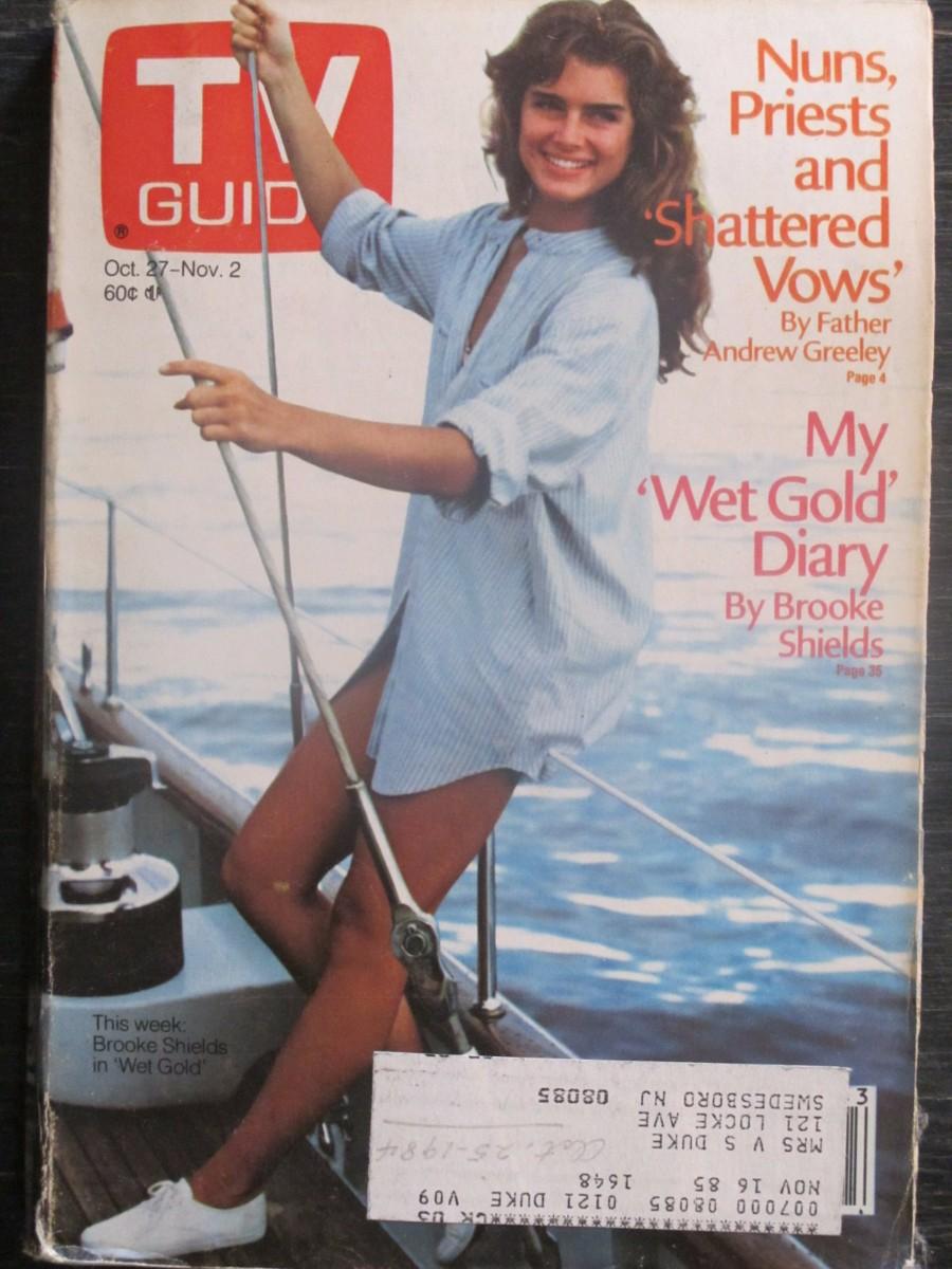 TV Guide Magazine October 27, 1984 Brooke Shields in Wet Gold