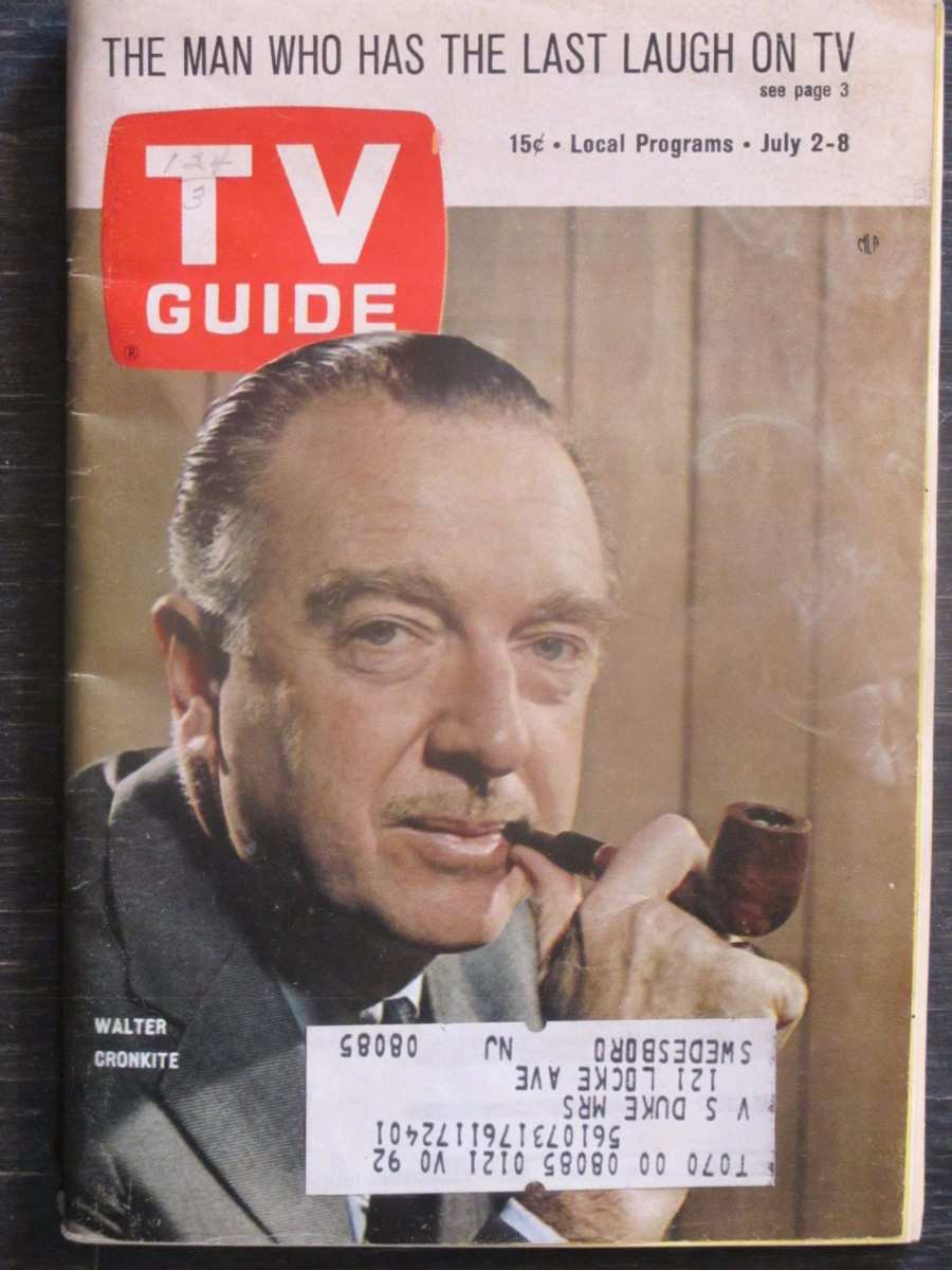 TV Guide Magazine July 2, 1966 Walter Cronkite