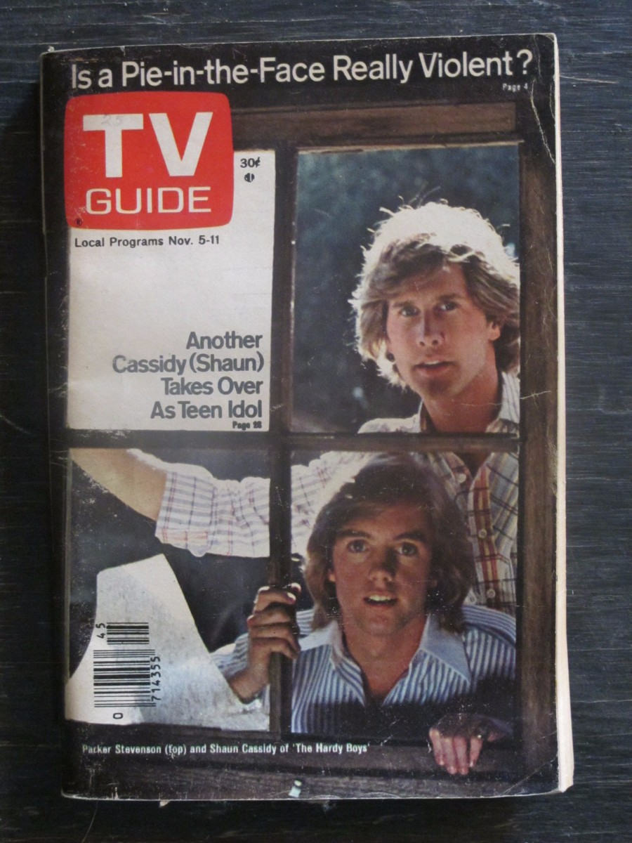 TV Guide Magazine November 5, 1977 Parker Stevenson & Shaun Cassidy Hardy Boys