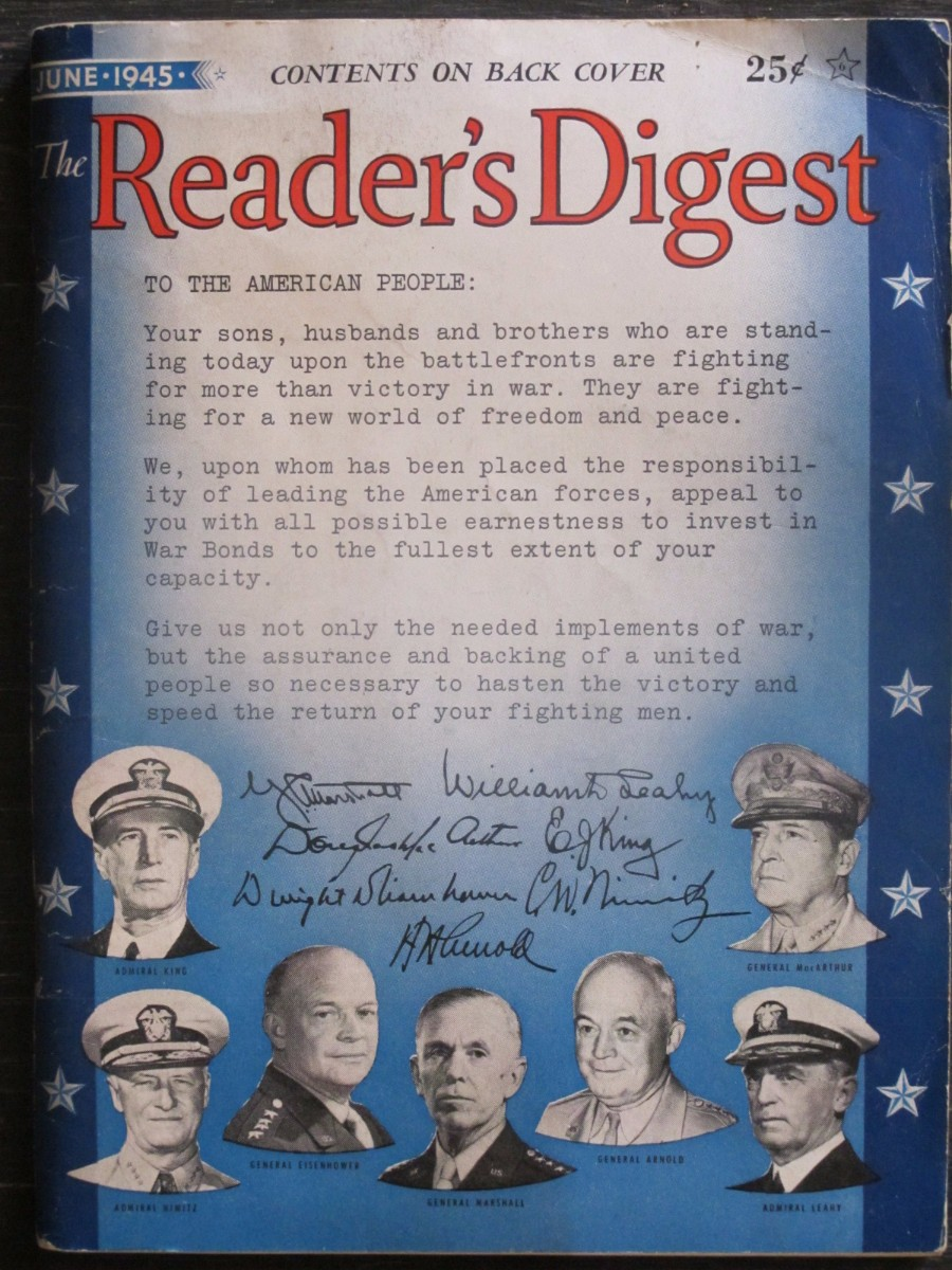 The Reader's Digest Magazine June 1945 World War II