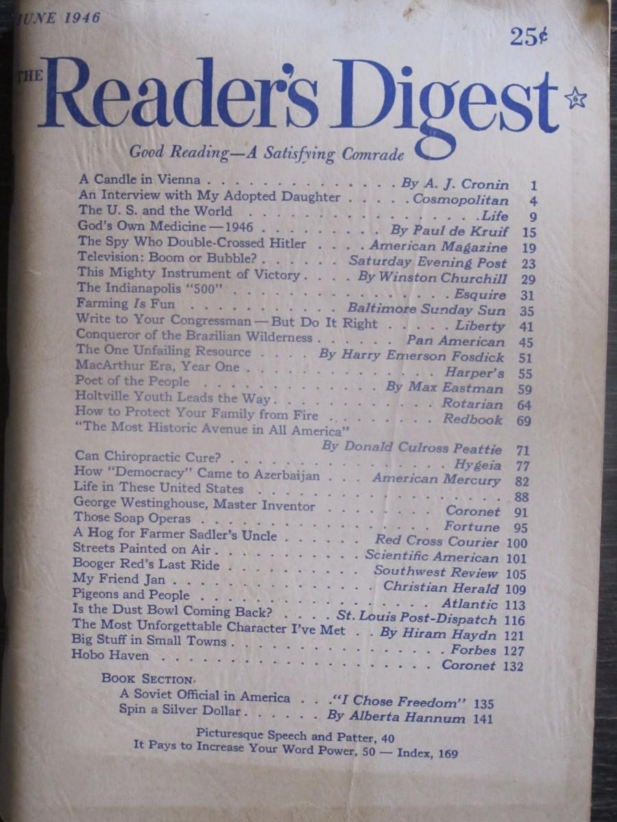 The Reader's Digest Magazine June 1946