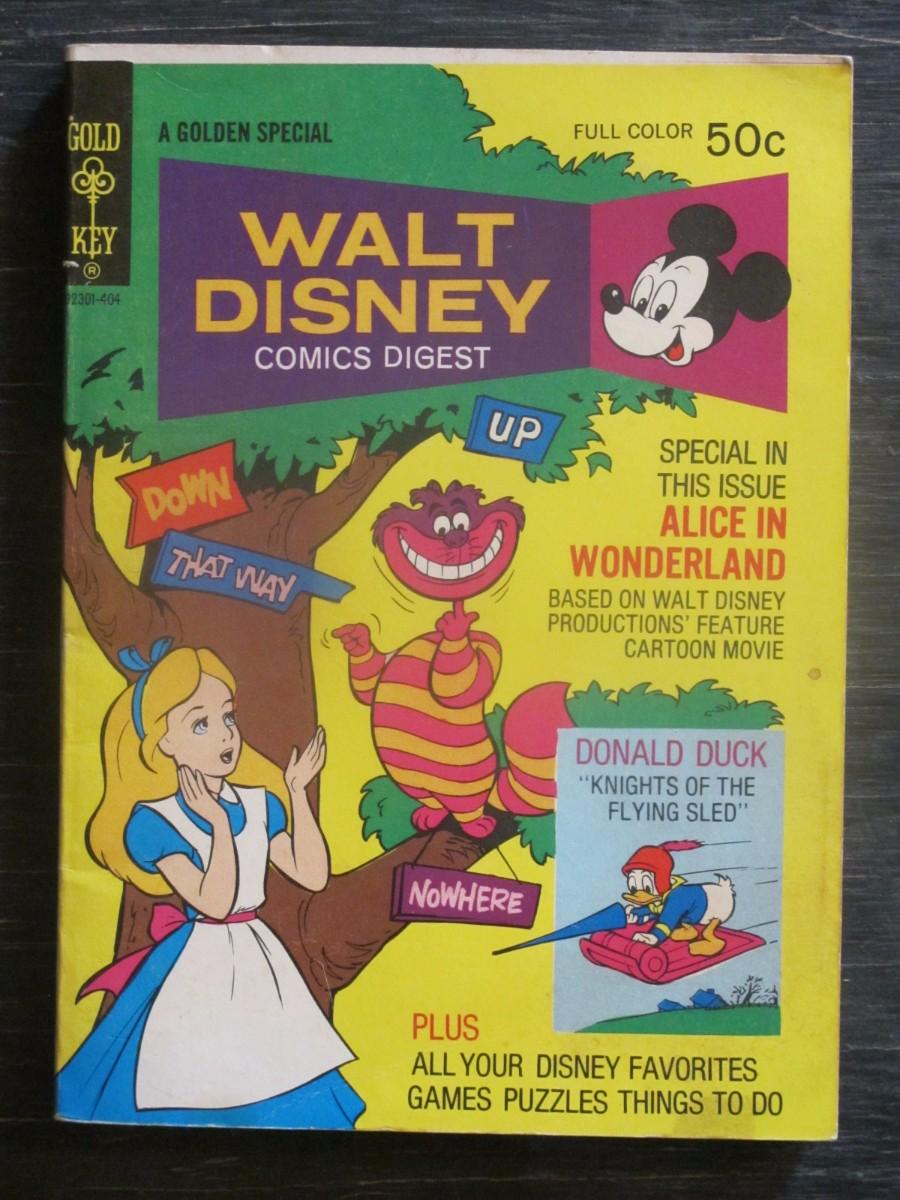 Gold Key Walt Disney Comics Digest #46 Magazine April 1974 Alice in Wonderland